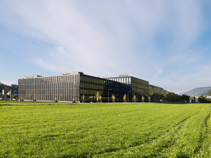 92,000 sqm or more than 17 American football fields of Rolex watchmaking facility ©Rolex/Rémy Lidereau