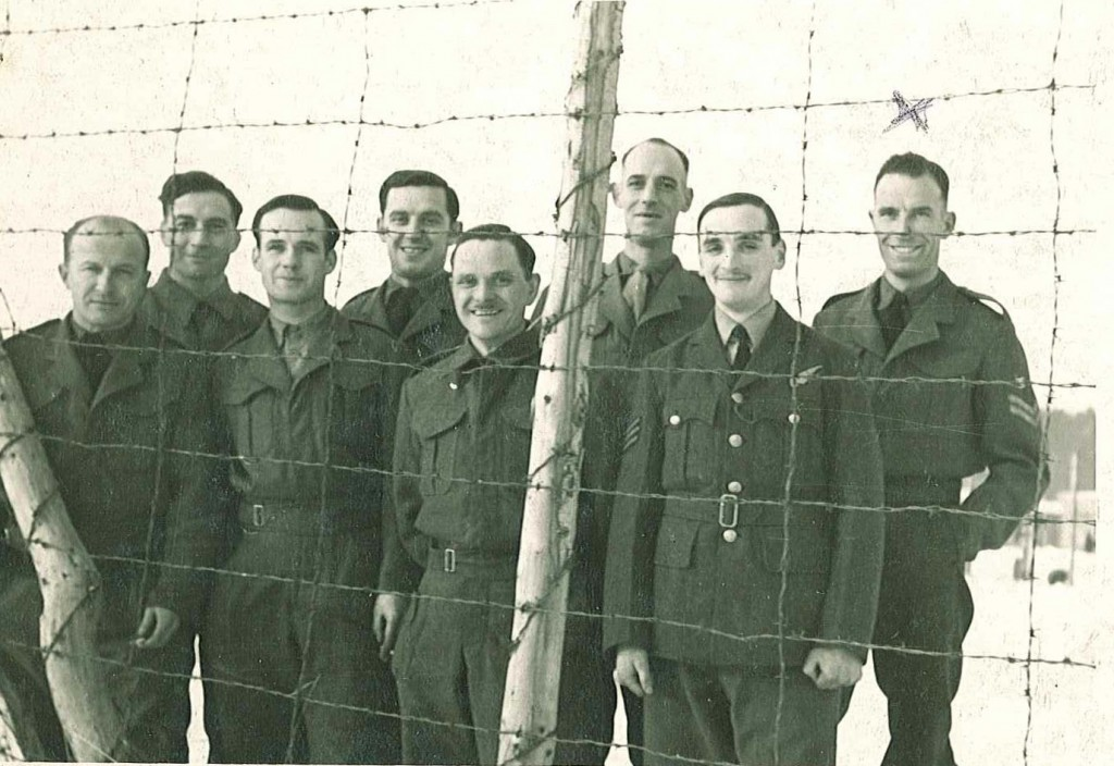 Corporal Clive Nutting pictured on the extreme right.