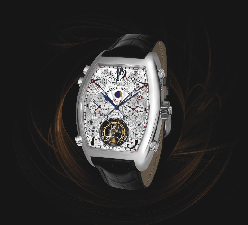 The Franck Muller Aeternitas Mega 4 is a veritable cornucopia of complications, and unites- among other functions- a minute repeater and grande and petite sonneries.