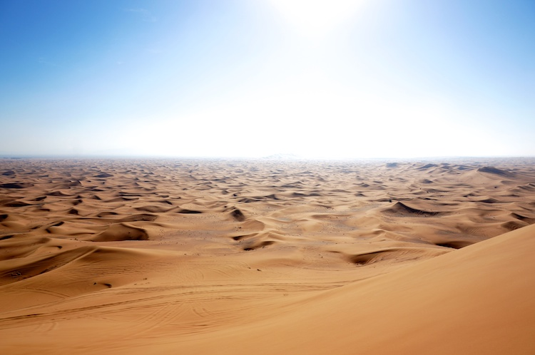 The Arabian Desert. You cannot buy a watch here. On the other hand . . .