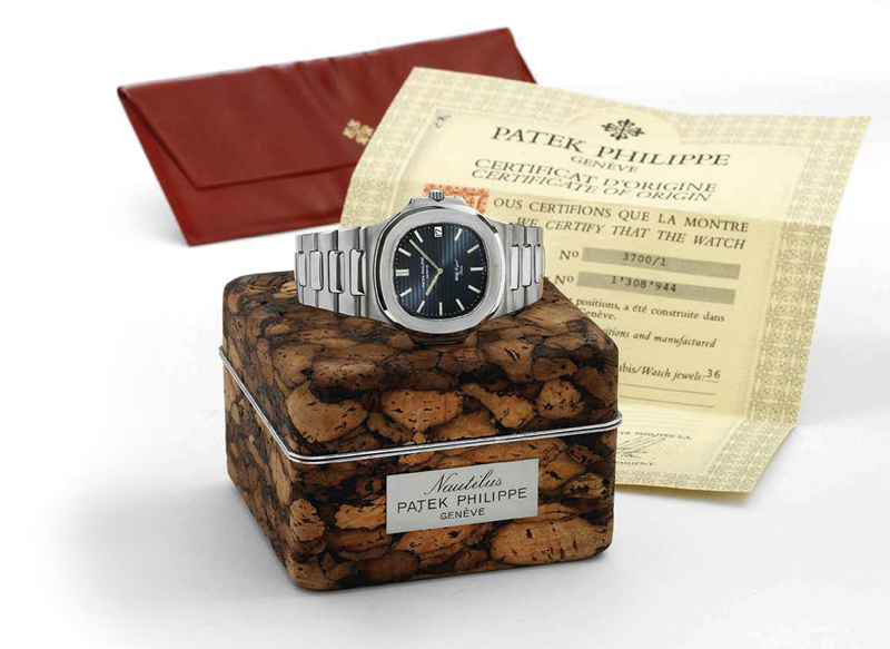 An 'A- series' Nautilus ref. 3700/1 with its original box and papers.