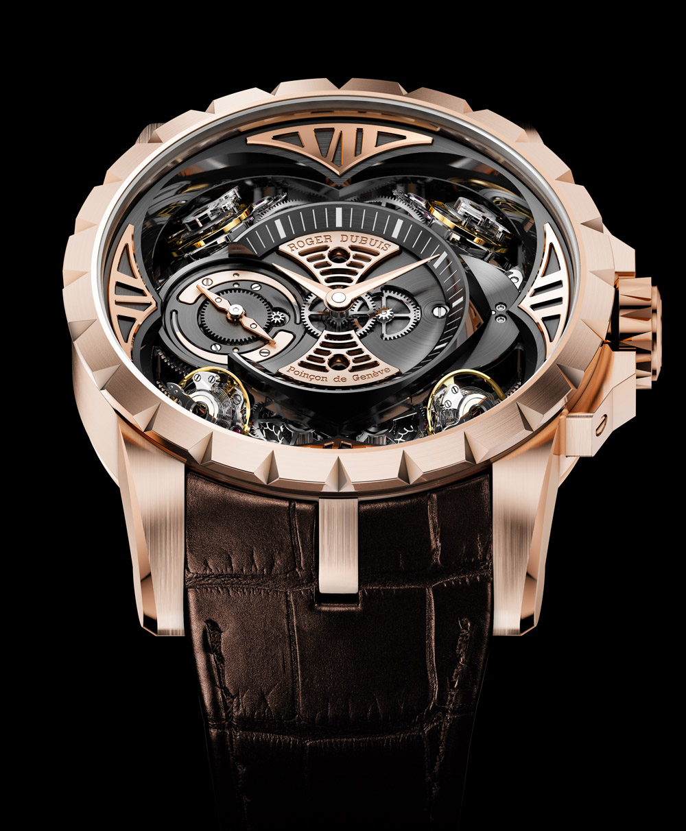 Movement: Caliber RD0101 manual-winding movement; hours and minutes; 40-hour power reserve and indication | Case: 48mm in pink gold