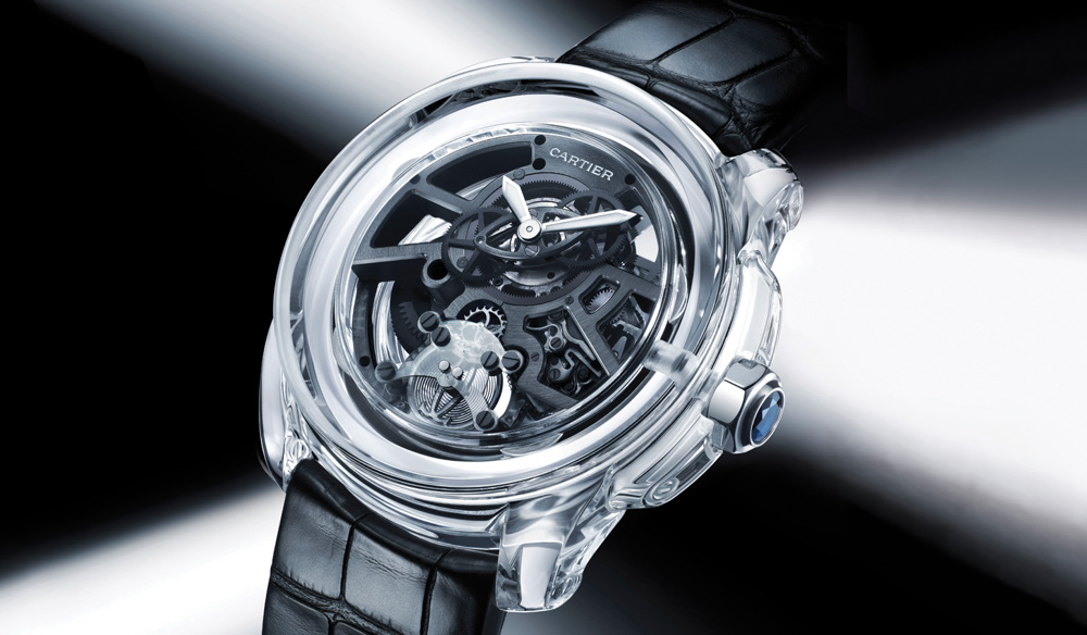 The spectacularly transparent Ceramyst- a polycrystalline ceramic- case is the first to utilize a monobloc case-and-dial-crystal construction.