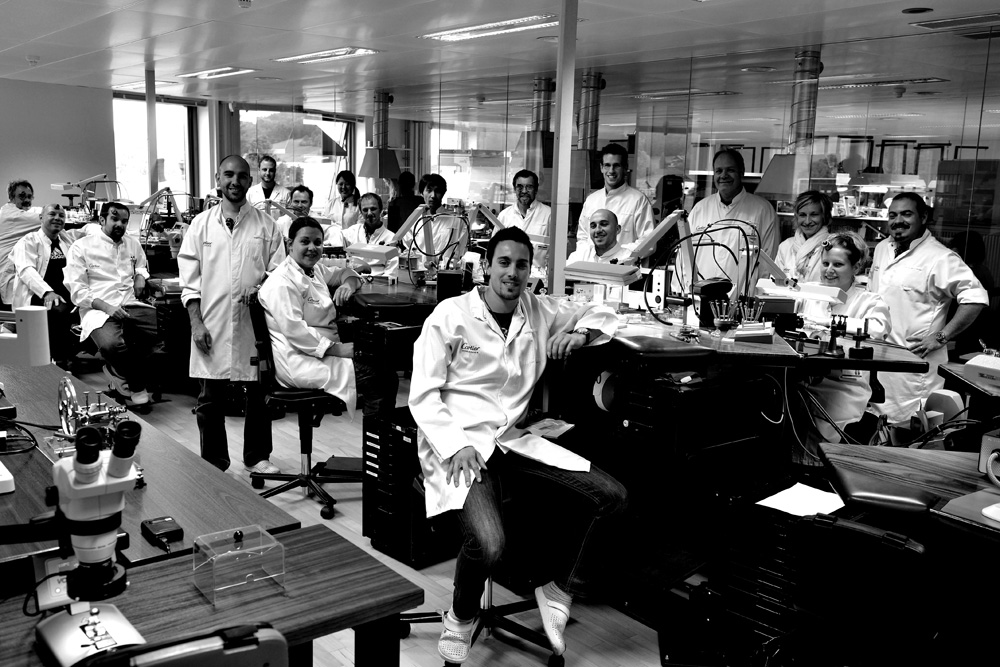 The innovative team at the Cartier manufacture in La Chaux-de-Fonds.