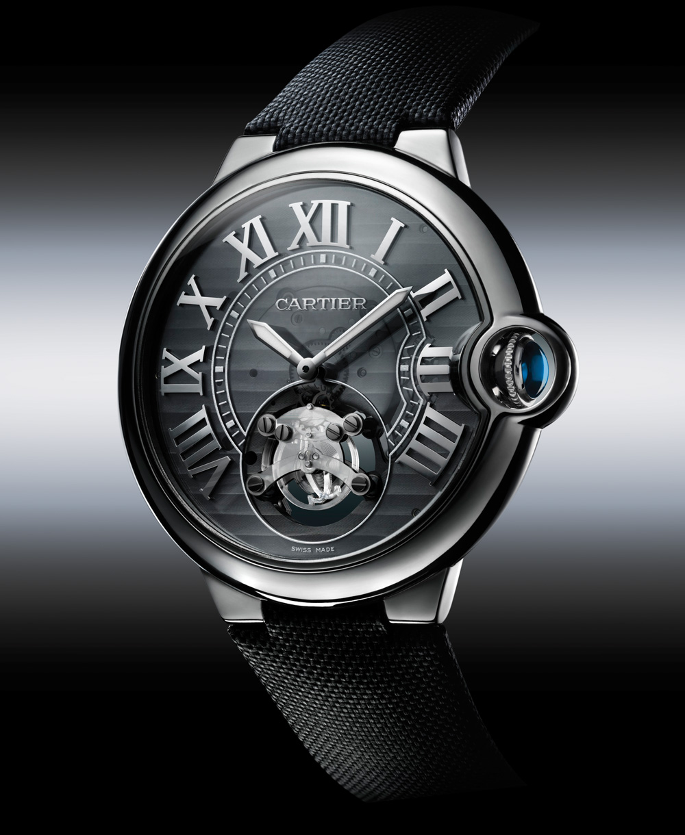 The synthetic-diamond regulator first seen in the Cartier ID One (pictured) is utilized in the escapement of the recently unveiled Astrotourbillon Carbon Crystal.