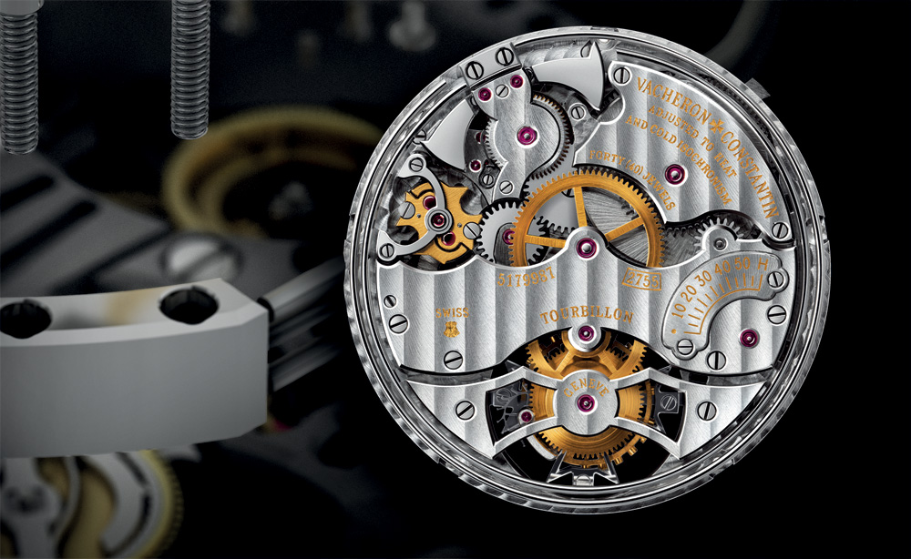 A centripetal governor is used in Vacheron Constantin's cal. 2755, visible under the bridge at 10 o'clock.