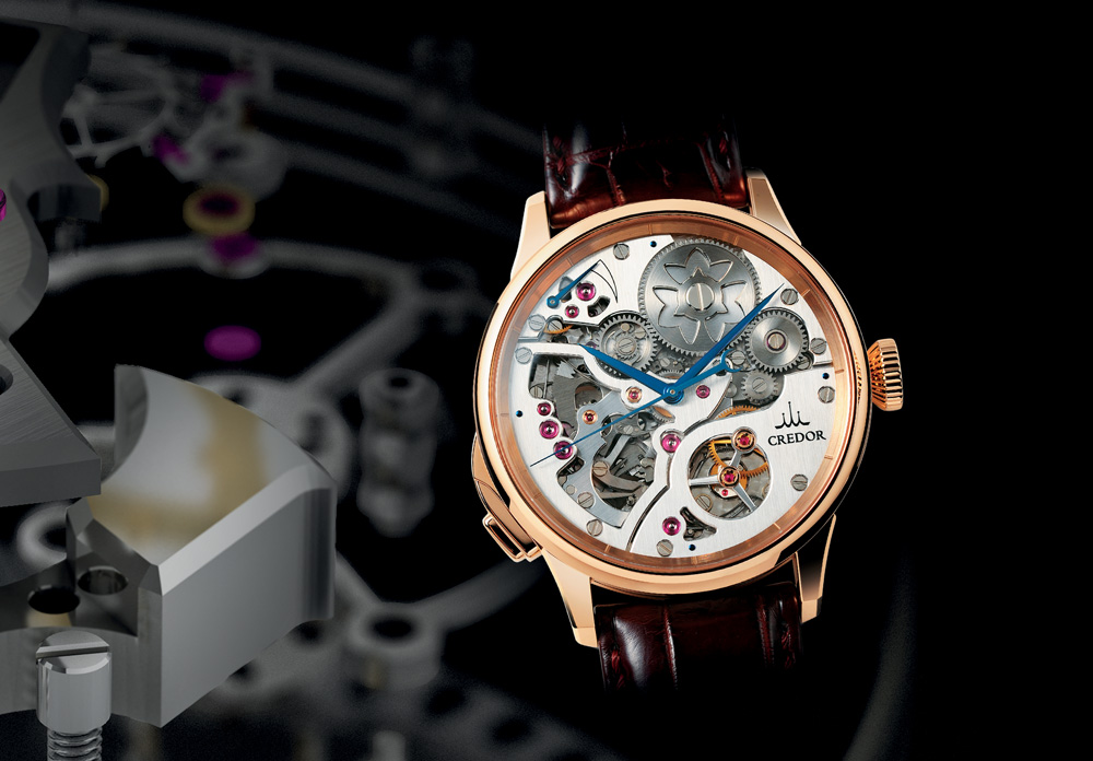 The Seiko Credor Spring Drive Minute Repeater uses air resistance to regulate its chiming speed.