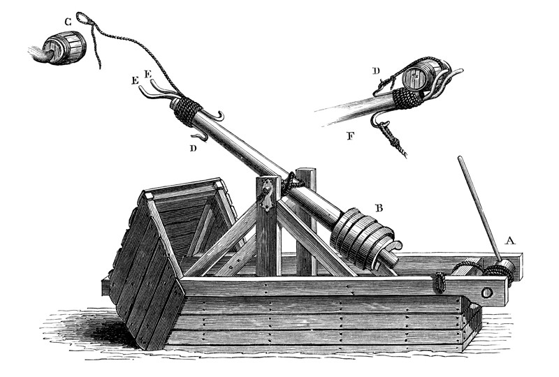 The articulated trebuchet hammer used in the Jaeger-LeCoultre Hybris Mechanica a Grande Sonnerie is built on the same principles as the medieval siege engine.