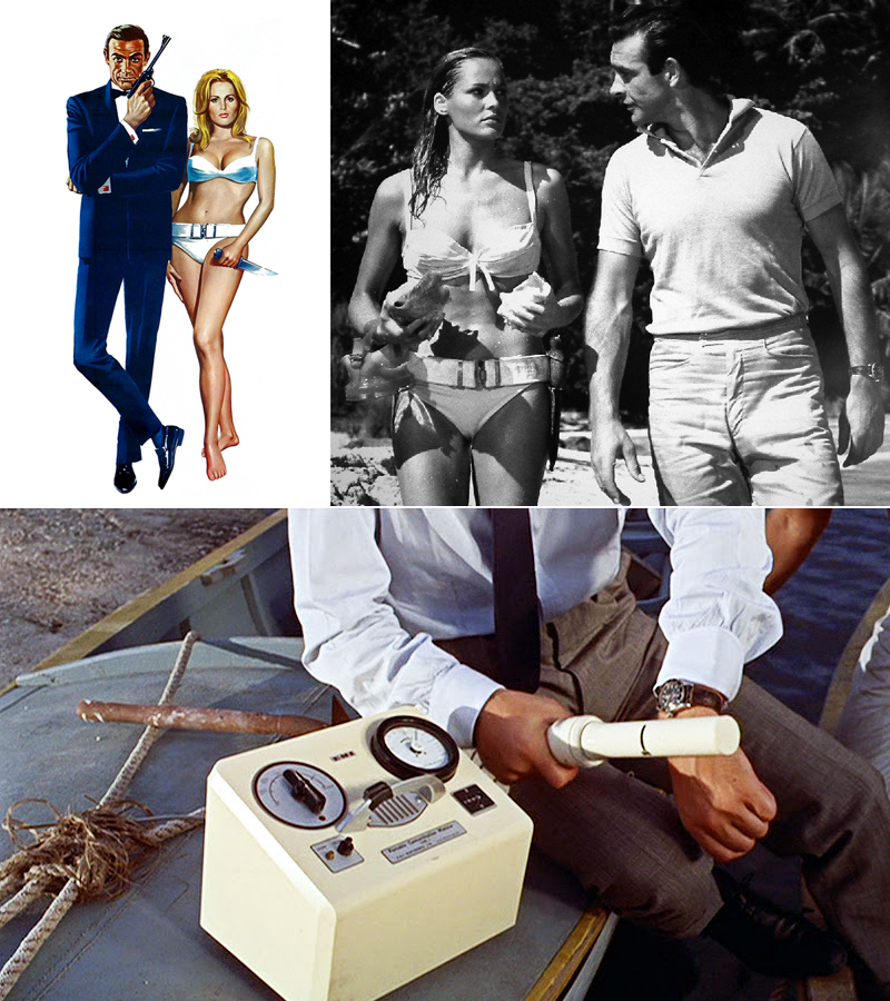 "Dr. No introduced recurring themes associated with suave spy genre. His women, his weapon of choice and naturally, his watches. Naturally, the audience in 1963 paid close attention to the many appearances of the Rolex ""Bond"" ref 6358."