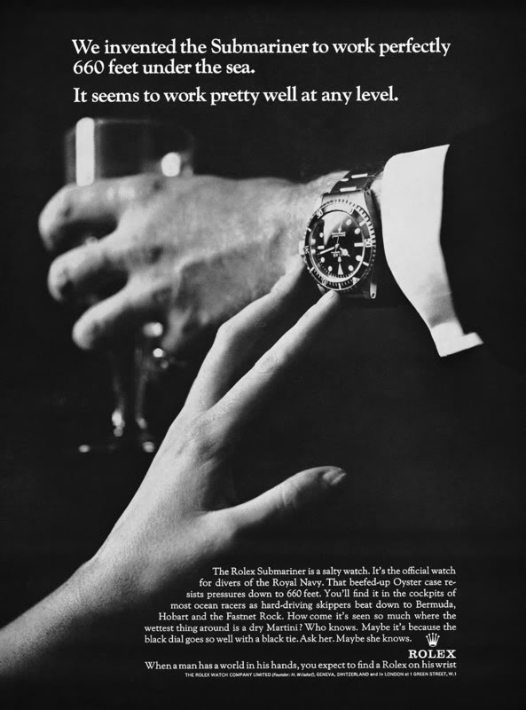 Smart marketing copy set the tone for other watch companies to follow, forever changing the tone on how watches were sold, placed and marketed.