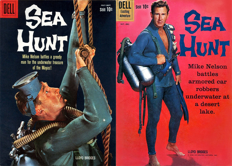 Regrettably, while many remember Lloyd Bridges as the buffoonish Rear Admiral and later President Tug Benson from the Hot Shots! series, he was actually quite the rakish deep sea diver in a series of 60s films.