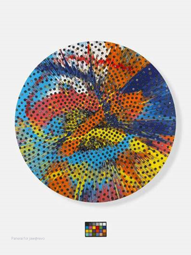 damien-hirst-Beautiful-fractional-sunlower-panerai-painting-2