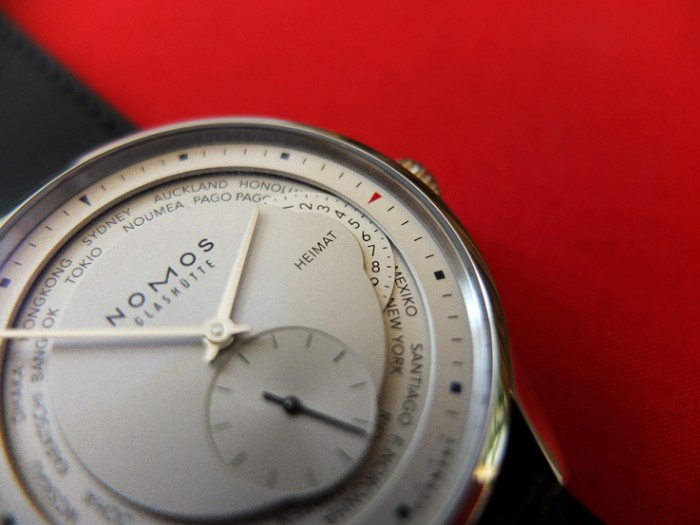 Nomos gives a lesson in creating depth in a dial
