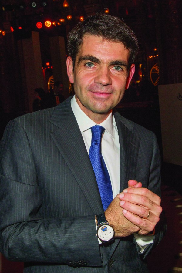 Jérôme Lambert in Place Vendôme, Paris, on the reopening of the Jaeger-LeCoultre boutique in 2012