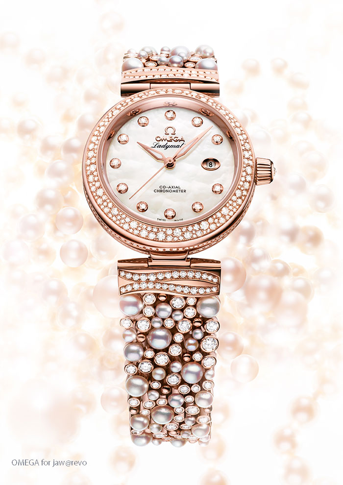 OMEGA De Ville Ladymatic Diamonds Pearls.