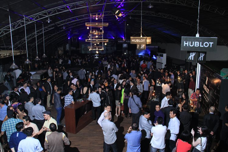 (15) A gathering of 350 guests in The Foundry to celebrate Hublot