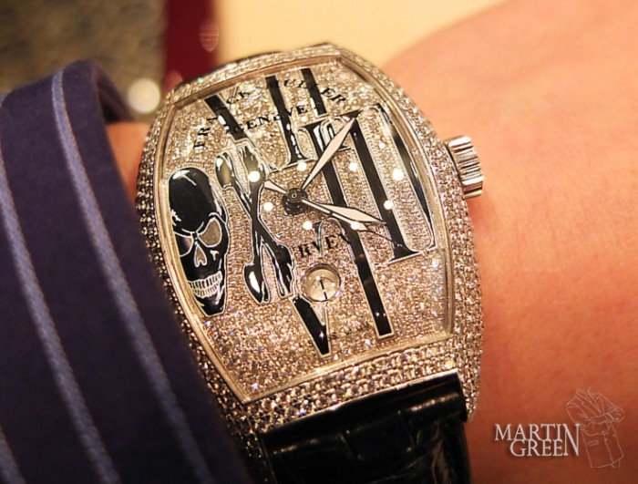 Franck Muller goes all in when it comes to skulls