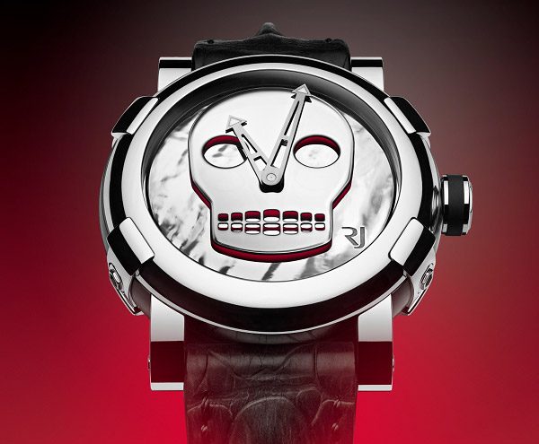 A dash of color brings Romain Jerome's skull to life