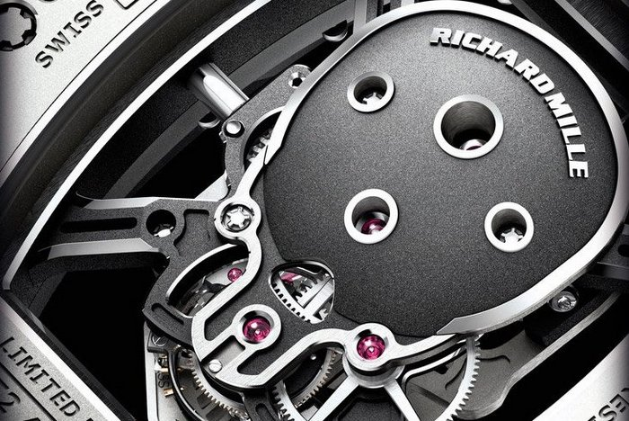 Richard Mille's skull watch is basically a skeleton movement shaped like a Jolly Roger