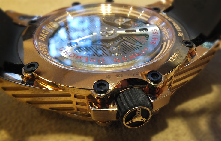 Chopard Superfast crown details