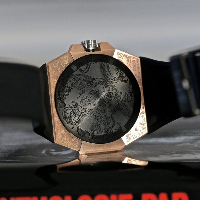 Very elaborate limited edition case back by Linde Werdelin