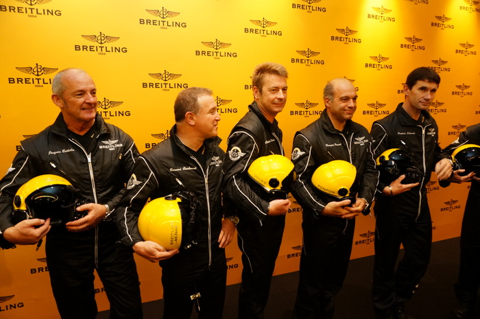 The Breitling Jet Team with Jacques Bothelin oictured on the left.