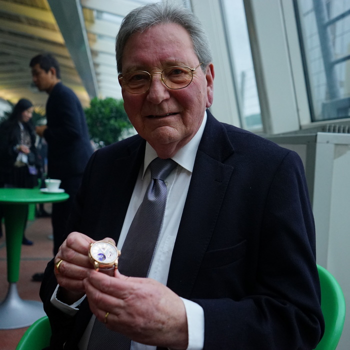 The very gent who gave his name to the brand Roger Dubuis, Mr Roger Dubuis