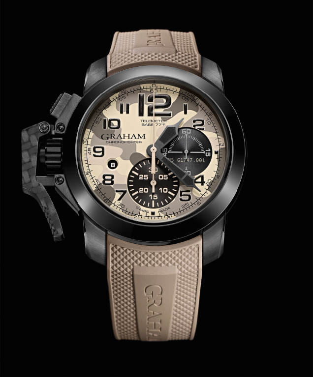 GRAHAM Chronofighter Oversize Black Arrow_sand_lr