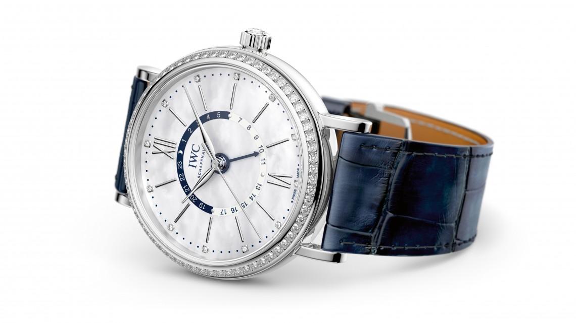 iwc chronograph blue