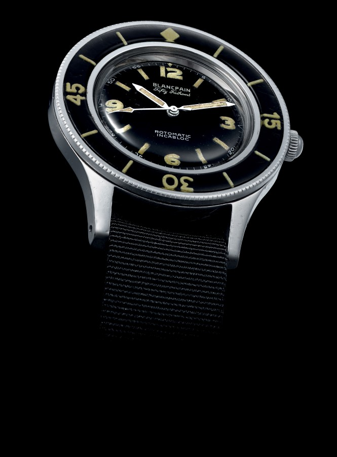 The first Blancpain Fifty Fathoms timepiece from 1953