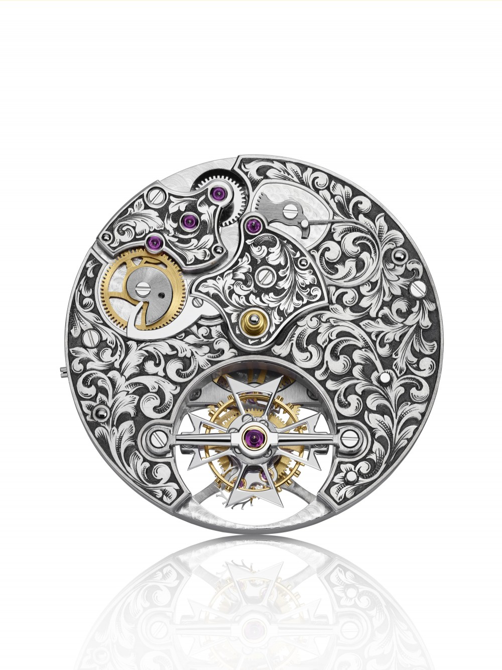 Hand-engraved Caliber 2260/1 of the Métiers d'Art collection by Vacheron Constantin