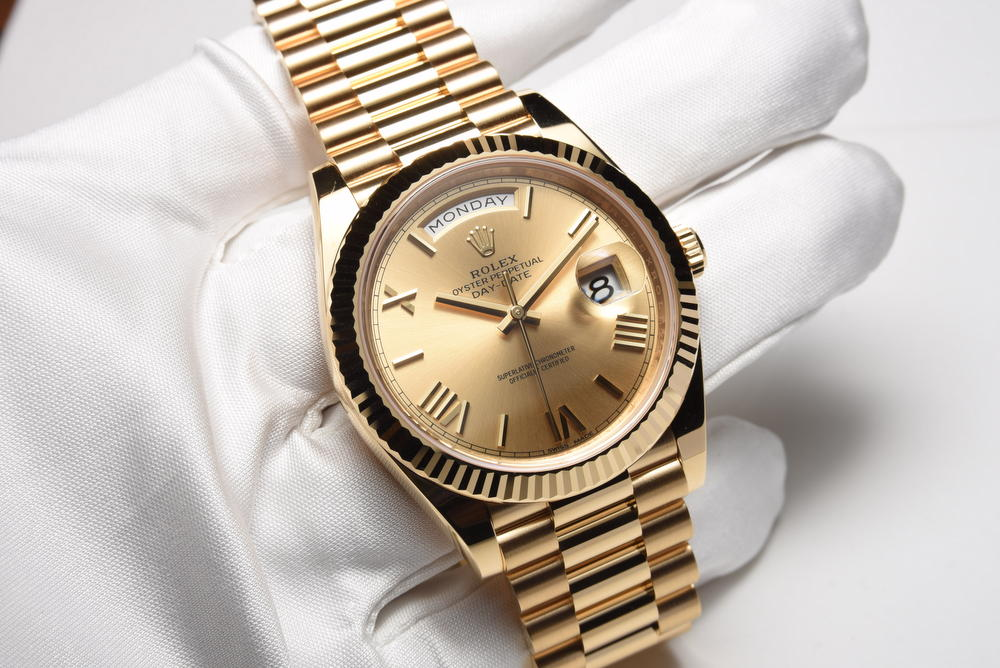 Rolex day date 36mm president everose gold 118235 th 195 180 ng tin