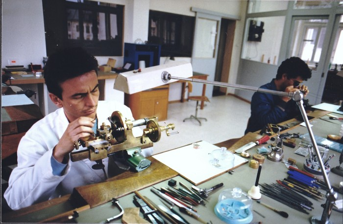 Dominique Renaud in his studio at Renaud & Papi, 1988