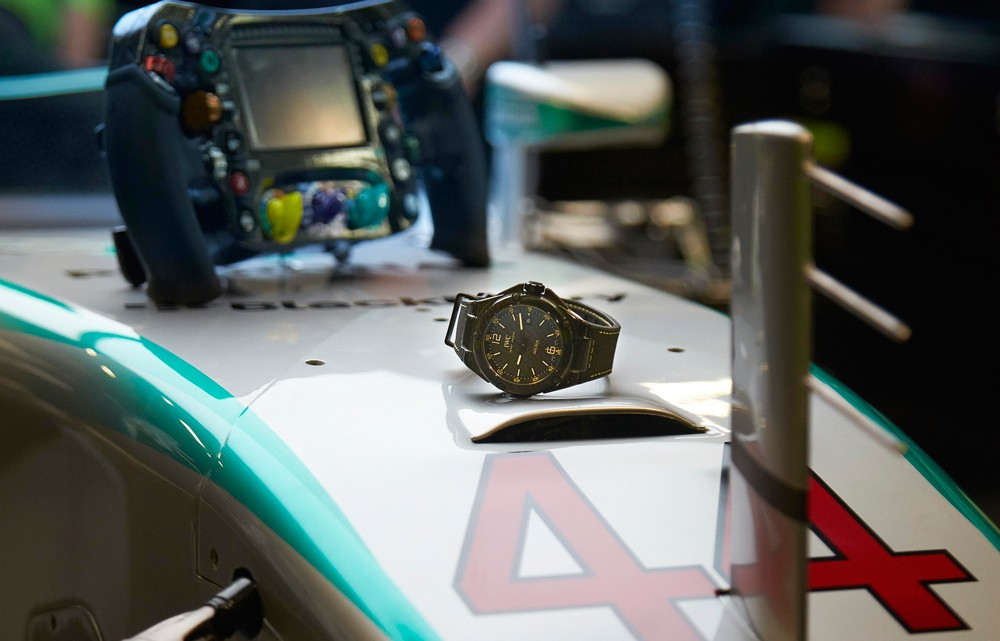 IWC Takes REVOLUTION Deep Into the MERCEDES AMG PETRONAS Formula One™ Team Race Garage