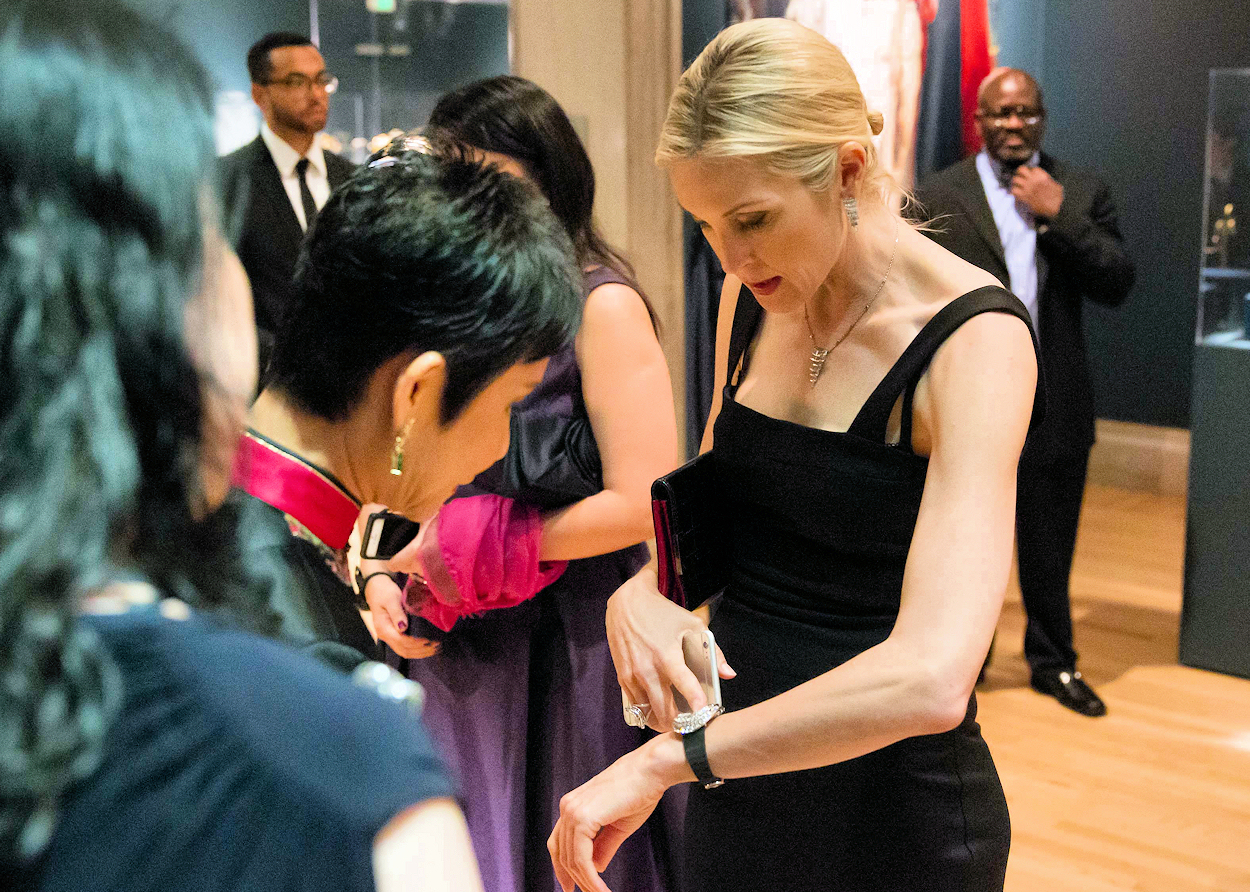 Actress Kelly Rutherford Breguet exhibit gala San Francisco