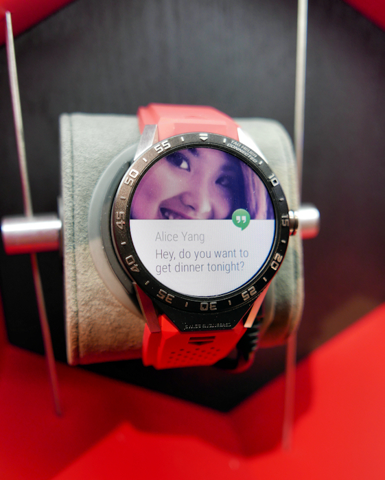 The TAG Heuer Connected offers traditional ANdroid Wear functionality.