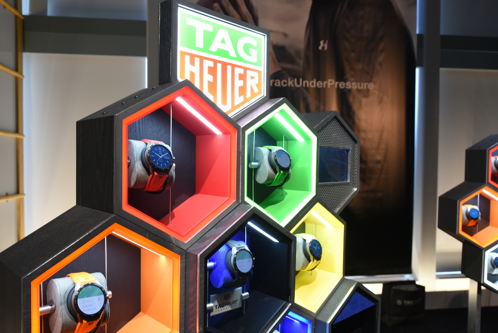 The TAG Heuer Connected is available with a range of colored straps.