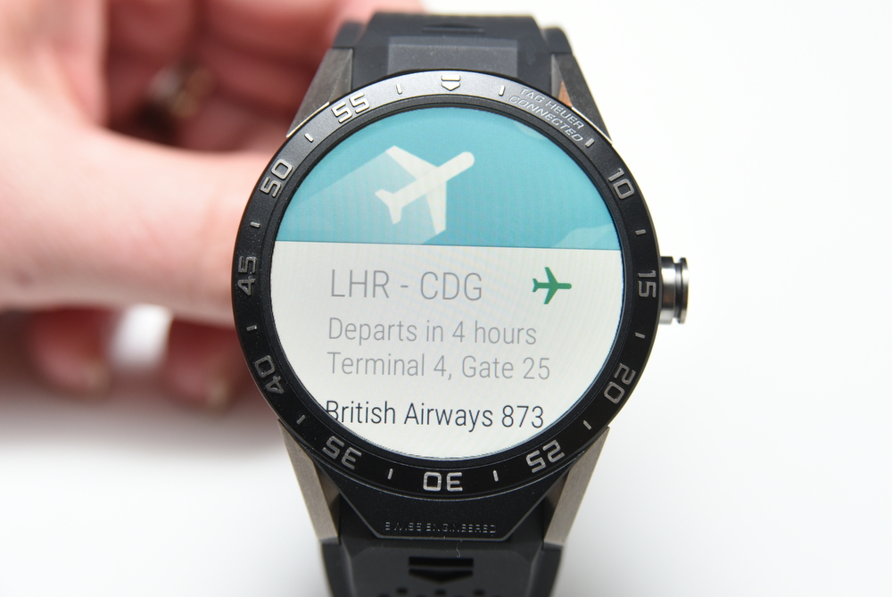 The Connected can display flight information.
