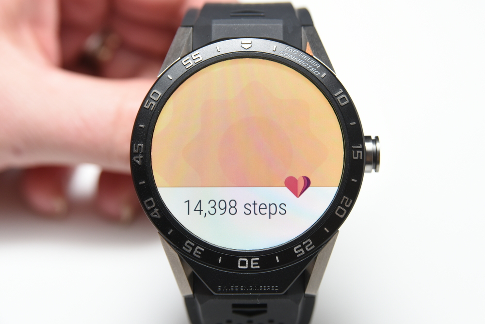 Fitness buffs will appreciate the step counter.