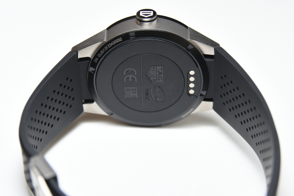 The Connected caseback displays the Intel Inside logo, among others.