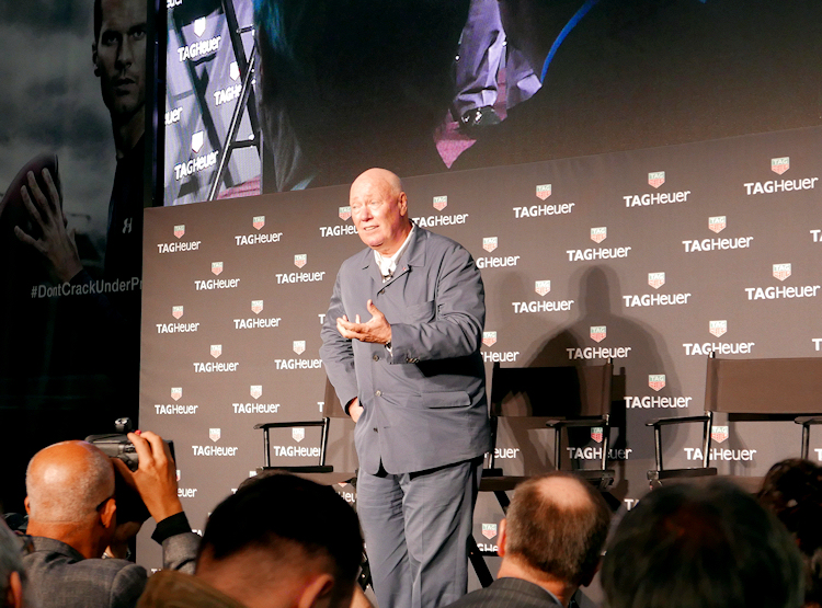 Jean-Claude Biver was in fine form at the TAG Heuer Connected watch launch in New York City,