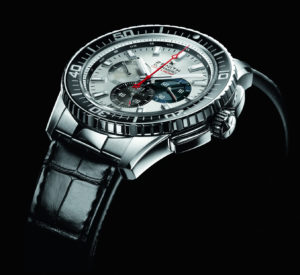 The El Primero Stratos Flyback Striking 10th houses the calibre 4057B, beating at a very brisk 5Hz