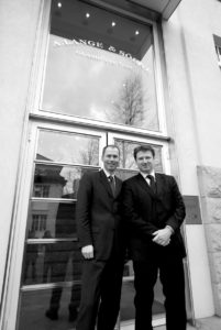 Anthonie De Haas (right), head of product development at A. Lange & Söhne with Arnd Einhorn, head of public relations