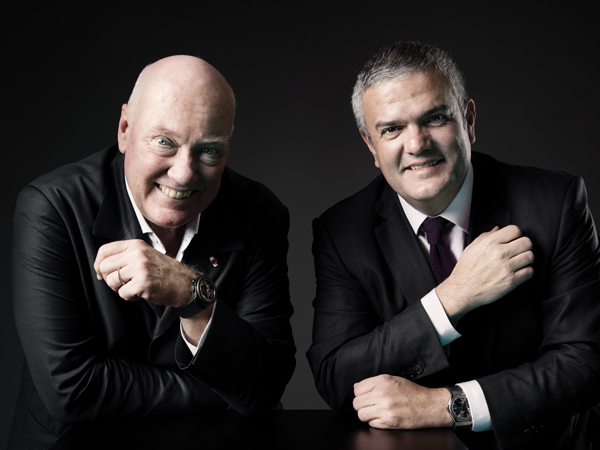 Jean-Claude Biver and Riccardo Guadalupe, CEO Hublot