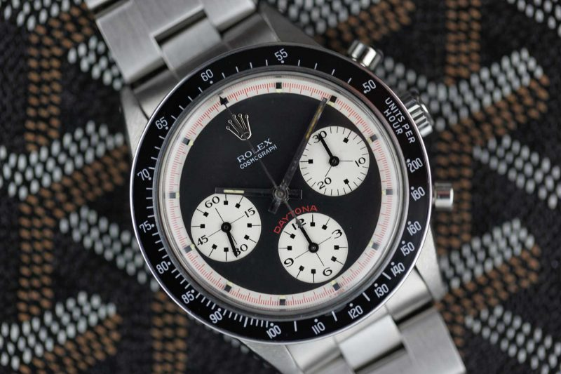 An exquisite Paul Newman Daytona ref. 6241 photographed in Eric's distinct styling, by Eric himself. (Image source: Eric Ku/10pastten.com)