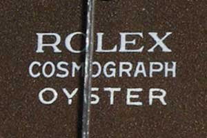 Rolex-Cosmograph-Oyster lettering
