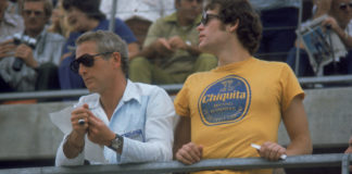 Paul Newman and his son Scott Newman