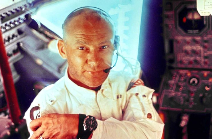 Buzz Aldrin in the Apollo 11 Lunar Module (Image: NASA.gov)