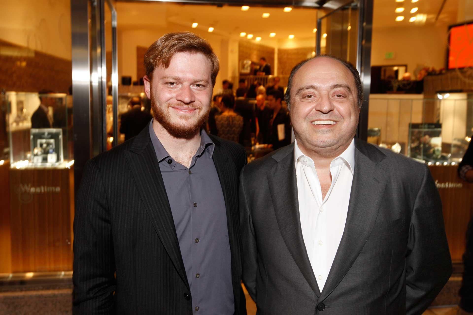 (L-R) Greg with his father, John Simonian