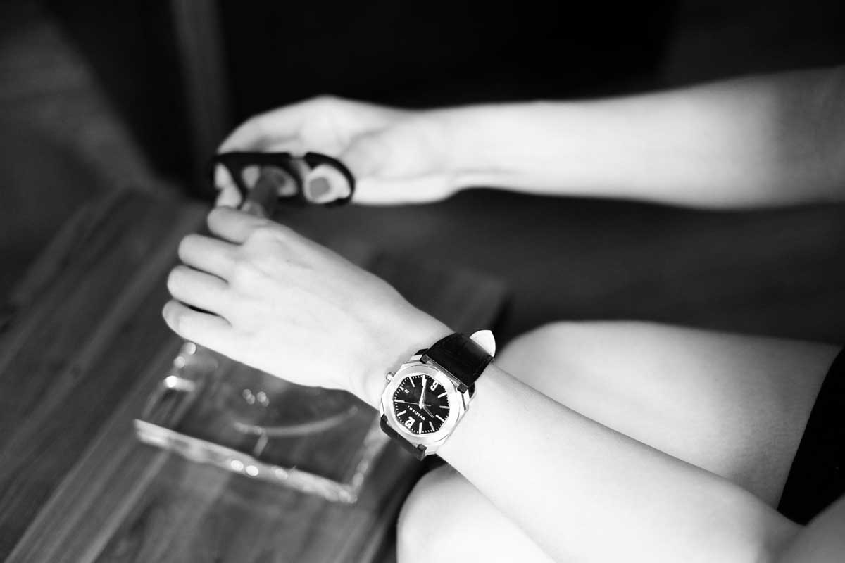 One Woman, One Cigar and One Watch